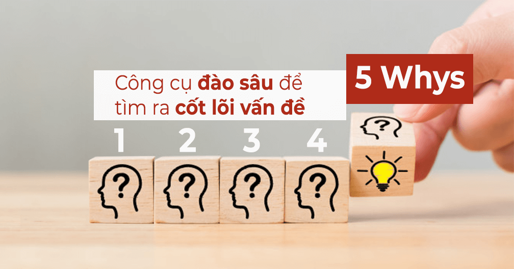 5 Whys - công cụ đào sâu để tìm ra cốt lõi vấn đề